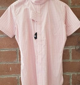 Ariat Ariat Victory Short Sleeve Show Shirt - Pink/White -Size 38