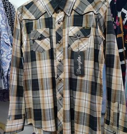 Wrangler Wrangler Boys Billy Emb Check - Black/Brown - 14
