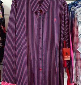 Thomas Cook Thomas Cook Women's Cowan Stripe Long Shirt Dark Navy/Raspberry Size 18