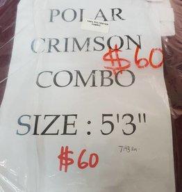 "Polar Fleece Combo - Crimson - 5'3"""