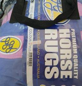"GG Australia Panelled Fleece Rug - Mauve/Pink - 5'3"""