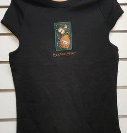 Spirit Bucking Spirit Unisex Cotton-T - Black - Size 10-12