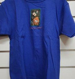 Spirit Bucking Spirit Unisex Cotton-T - Blue - Size 12