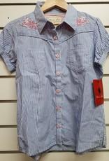 Thomas Cook Thomas Cook Girls Lian Stripe Short Sleeve - Wedgewood/White - Size 10