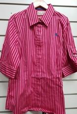 Thomas Cook Thomas Cook Women's Angelique Stripe Short Sleeve Shirt -  Fuschia - Pink Size 12