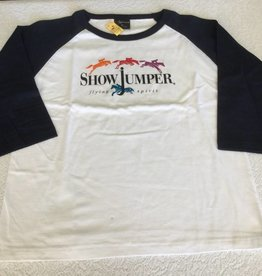 Flying Spirit 3/4 Sleeve Tee - ShowJumper - Size 14 - 014