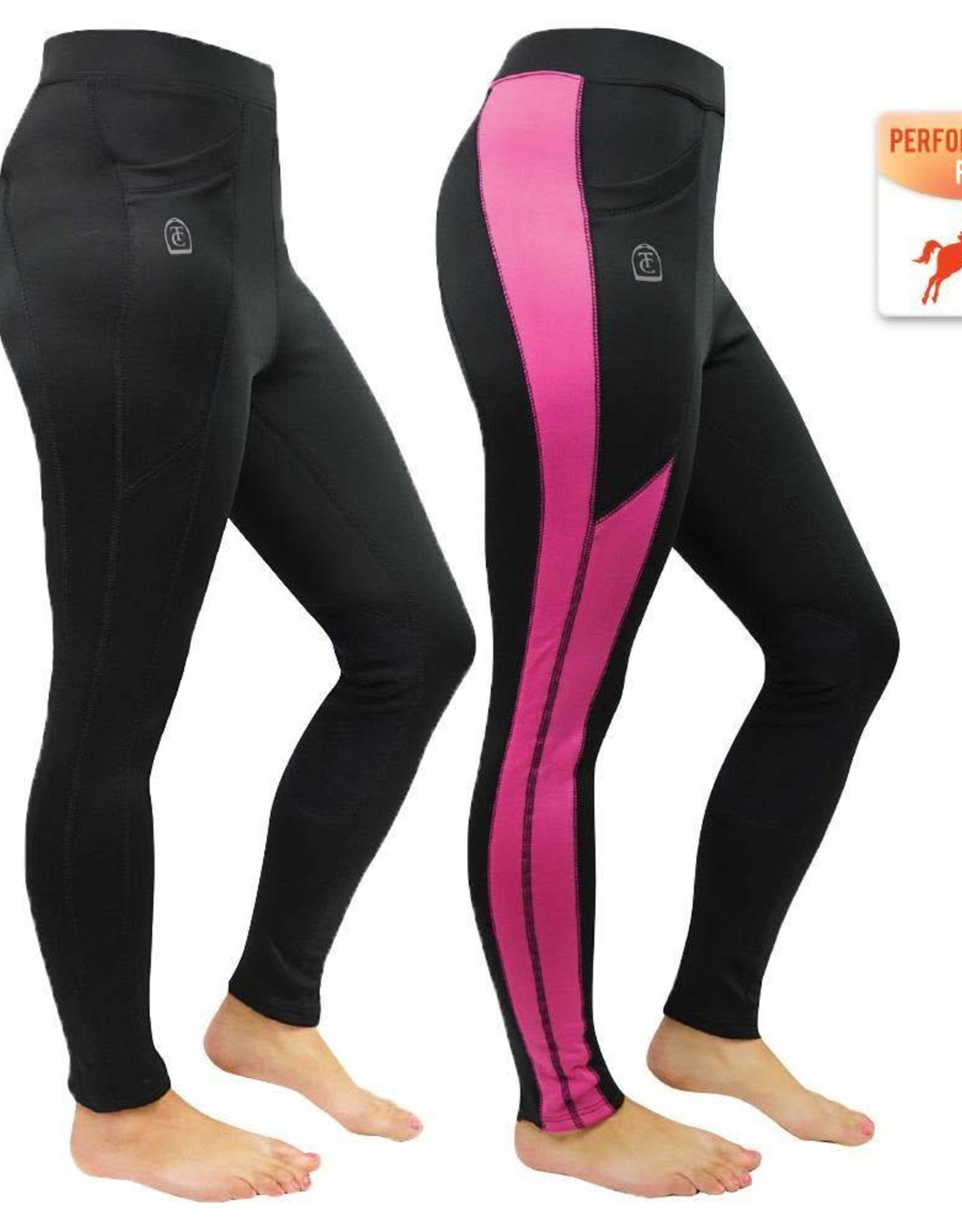 Thomas Cook Thomas Cook Ashley Performance Pull-on Tights - Black/Hot Pink - Size 16