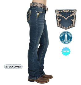 d8901b72d4a Pure Western Pure Western Womens Carolina Relaxed Rider Jean - Storm - 12