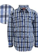 Thomas Cook Thomas Cook Boys Claude Check Shirt Blue Print/White 12
