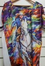 Barrel Racer Print T-shirt - Multi Colour
