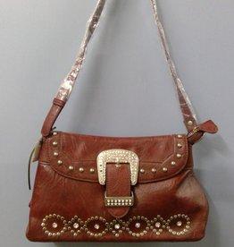 Faux Leather Maroon Handbag