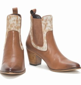 Chelsea Boots - Hair-on - Tan & White - Size 38