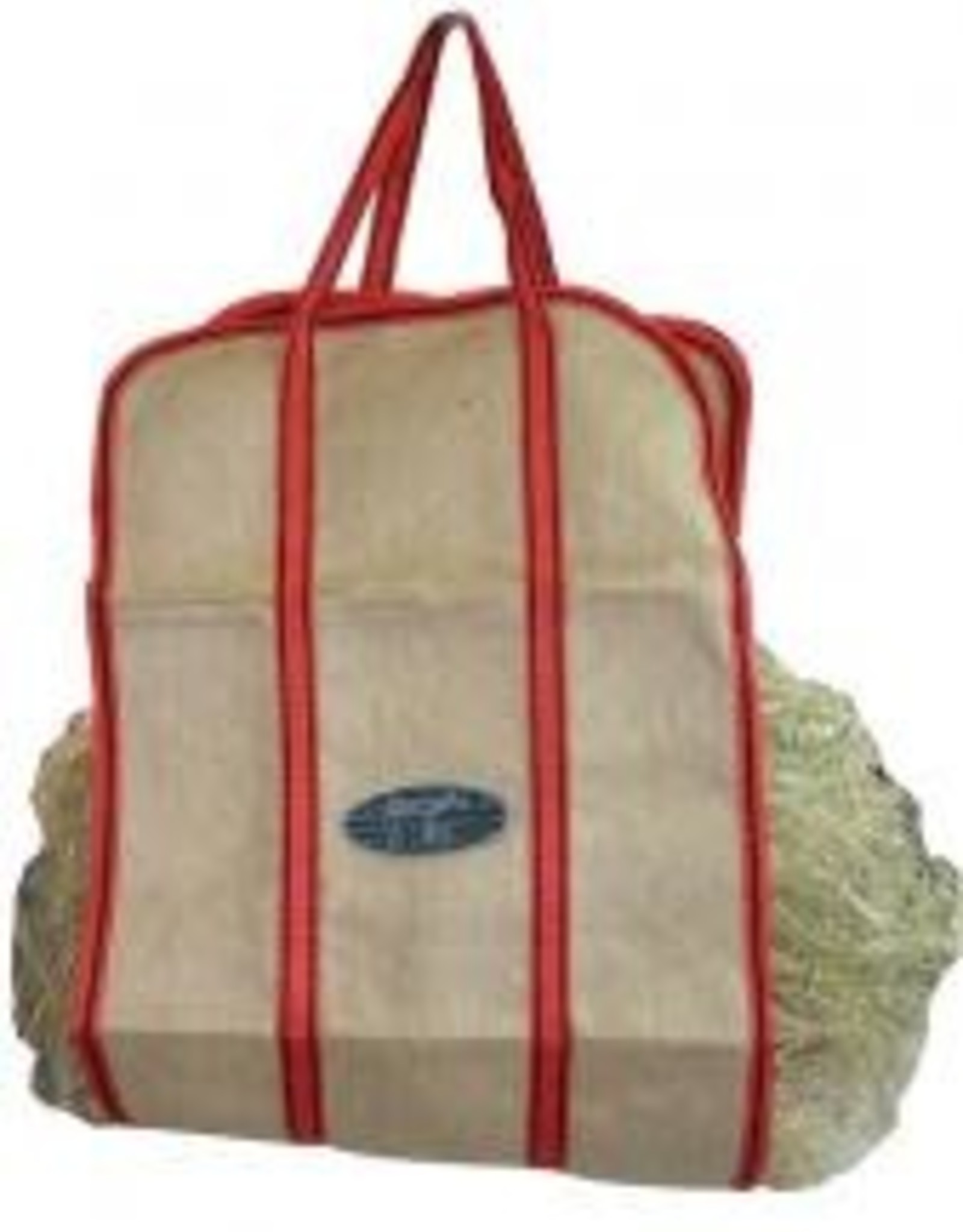 Jute Hay Carry Sling - Blue Handles