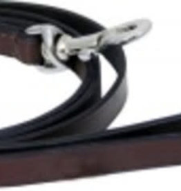 """Dog Lead Brown 1/2"""" Leather Lead 72"""""""