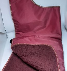 Dog Rug Maroon with Gold stitching