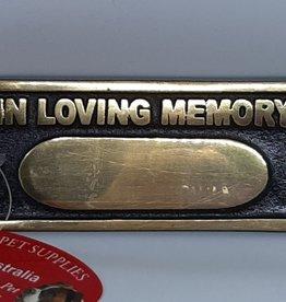 In Loving Memory - Pet Plaque - Gold/Black