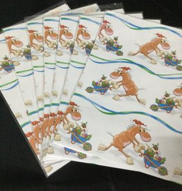 Gift Wrapping-Comic Horse & Wheelbarrow