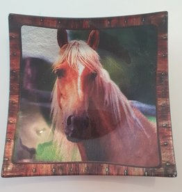 Plate with Horse 25cmx25cm