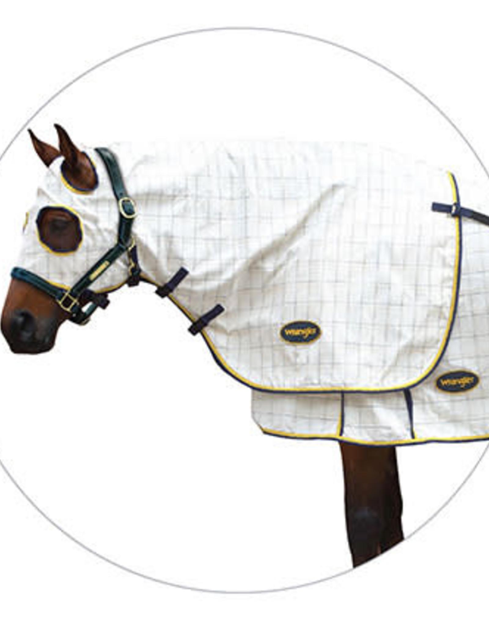 Wrangler Wrangler Cotton Royal Check Hood Navy and Yellow