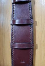 Curb Chain Guard  Leather  - Havana - Cob