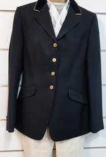 Windsor Apparel Ladies Warrendorf Jacket - Black with Gold Piping - Size 12
