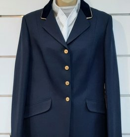 Windsor Apparel Ladies Warrendorf Jacket - Navy with Gold Piping  - Size 18