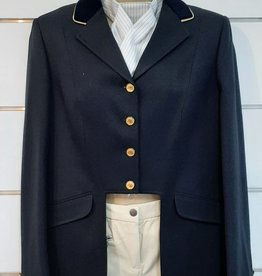 Windsor Apparel Ladies Cutaway Jacket - Navy with Gold Piping  - Size 16