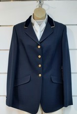 Windsor Apparel Ladies Warrendorf Jacket - Navy with Gold Piping - Size 14