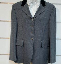Windsor St Germain Ladies Jacket - Grey with Black Velvet Collar - Size 16