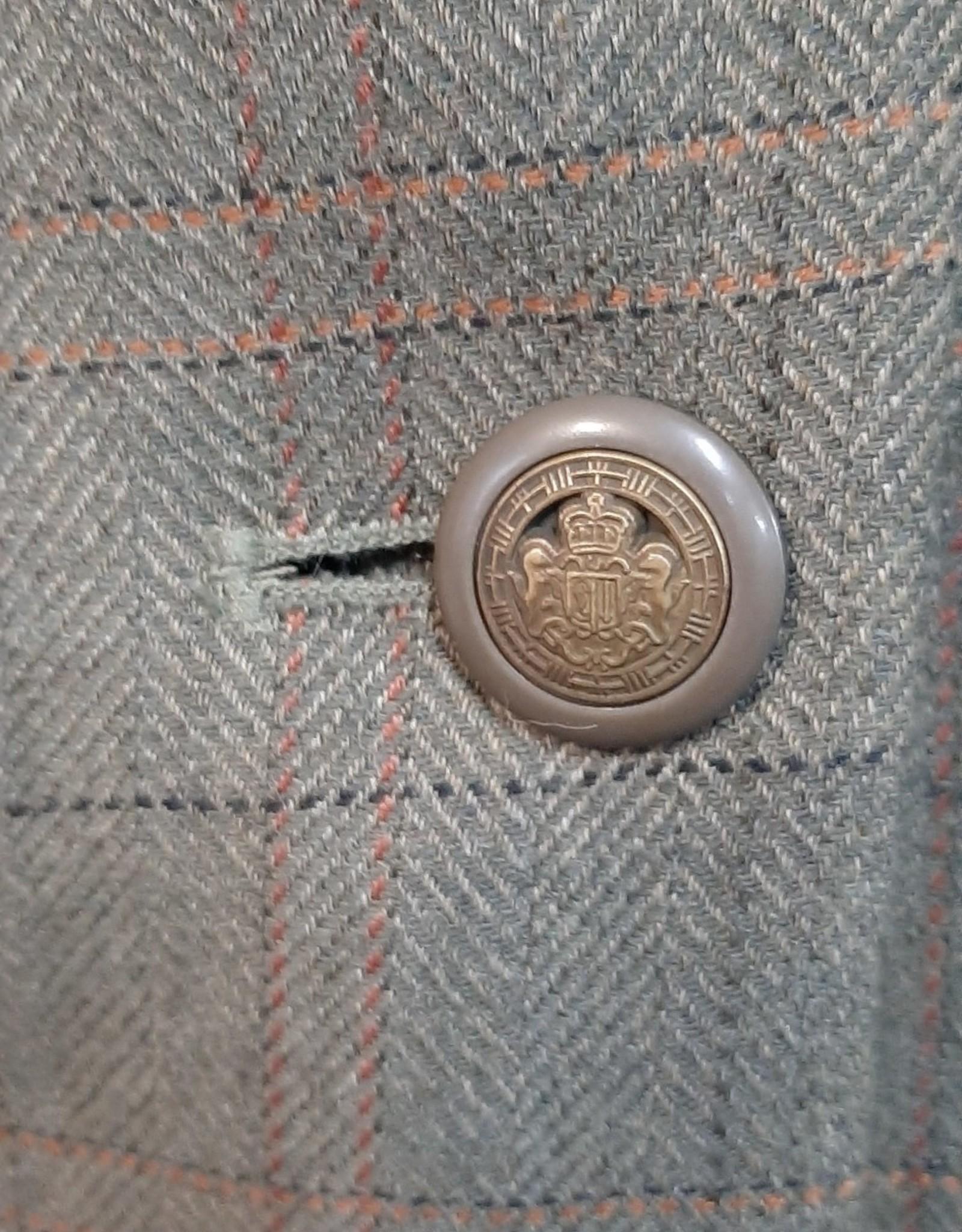 Windsor Tweed Jacket - Olive Plaid - Size 14
