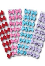 Fancy Show Bows - Pink with Black Dots (Pack of 16)