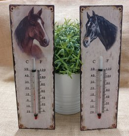 Thermometer Black Horse Wall Mounting