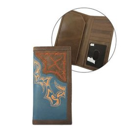 Twisted X Twisted X Tan/Blue Rodeo Wallet