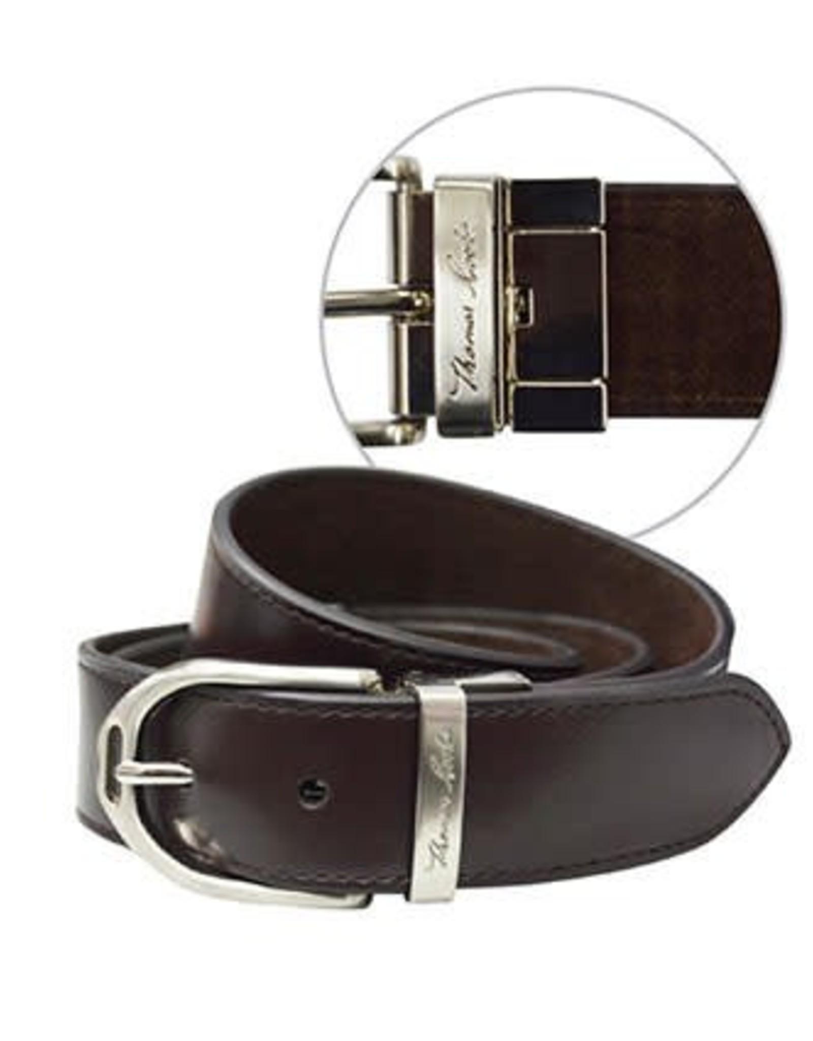 Thomas Cook Thomas Cook Womens Stirrup Buckle Reversable Belt - Dark Brown - L