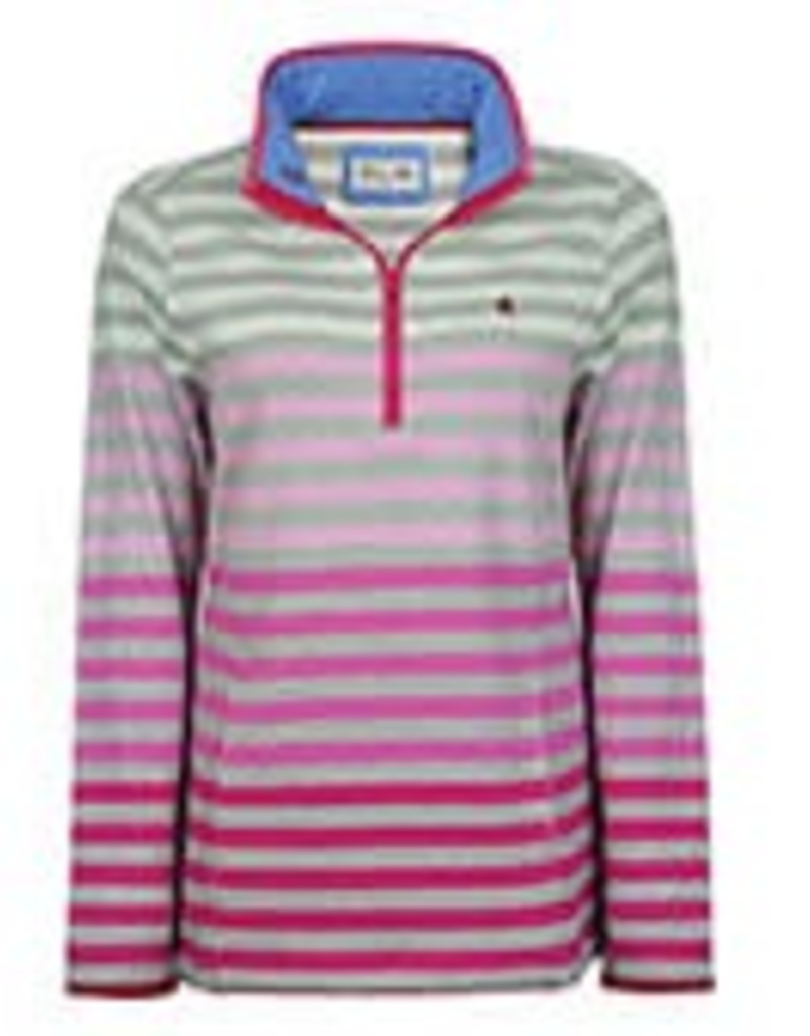Thomas Cook Thomas Cook Womens Meadow Stripe 1/4 Zip Shell Pink Size 10