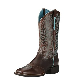 Ariat Ariat Round Up Remuda Dark Brown/Blue Western Boots Size 10 B Medium Width