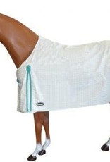 """ShowCraft Summer Ripstop Rug - White and Teal -  4'6"""""""