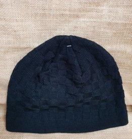 Beanie Black Knitted