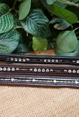 Norfolk Leather Browband - Four Diamond Chain - Pony - Black