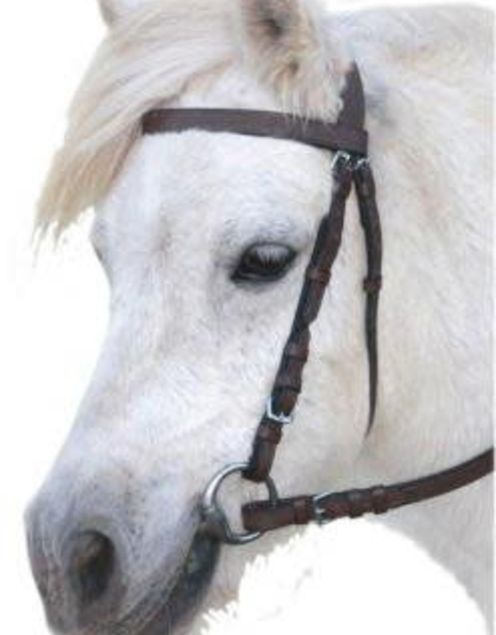 Eureka Plain Snaffle Bridle - Black - Pony