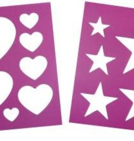 Heart & Star Stencil - Set of 2