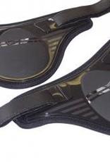 Retro PU Rear Fetlock Boot - Medium - Black