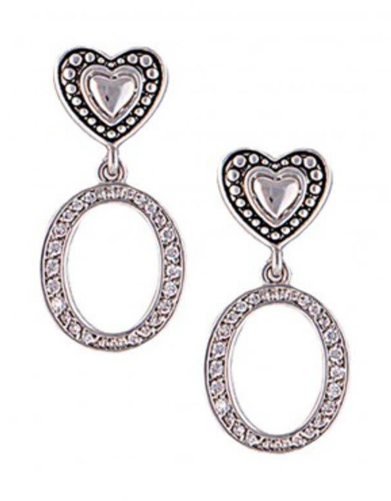 Montana Silversmiths Charm Hearts & Hoops  Silver Earrings ER1862
