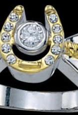 Montana Silversmiths Ladies Golden HorseShoe Ring - Size 7