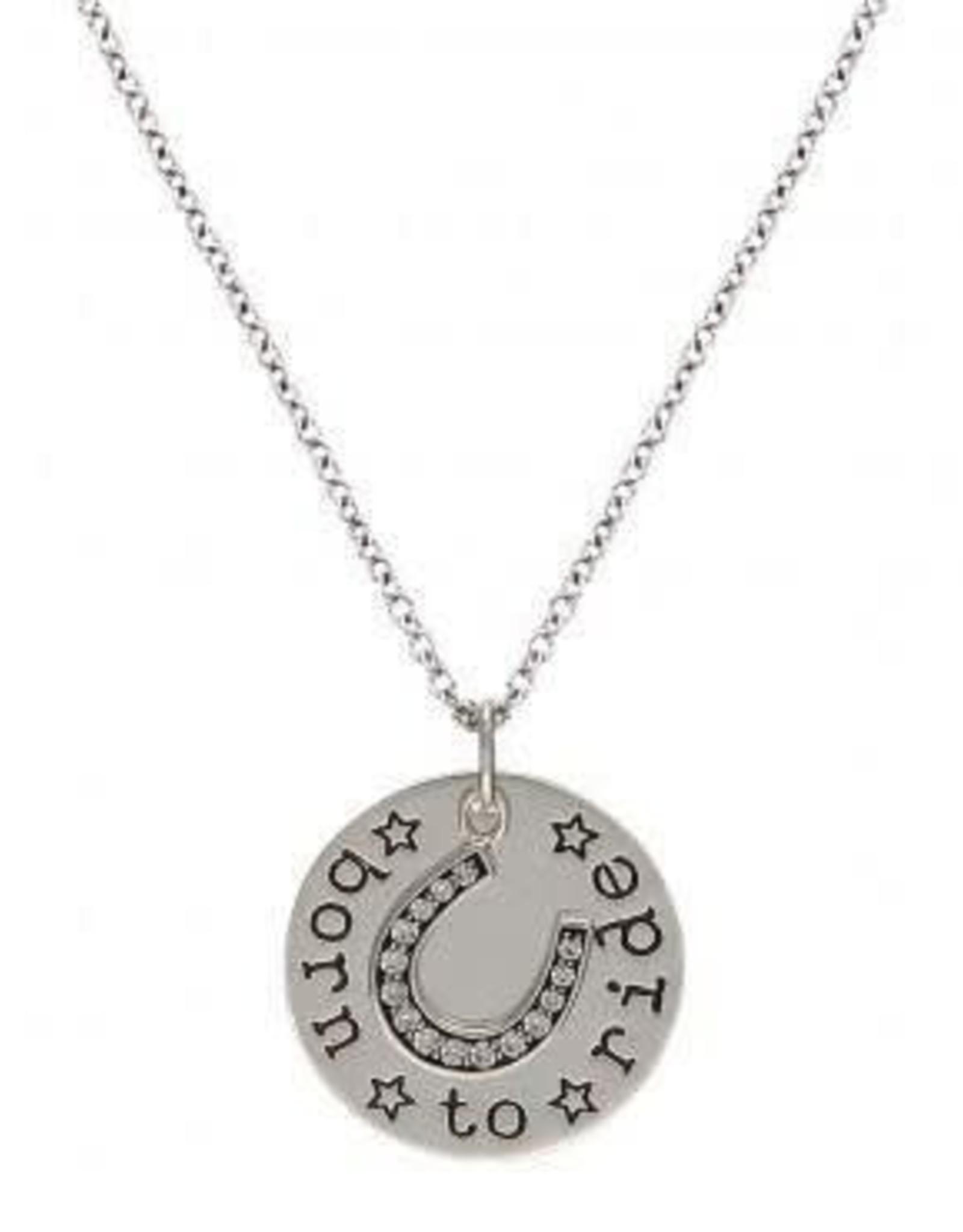 Montana Silversmiths Coin Charm Born to Ride NC2197