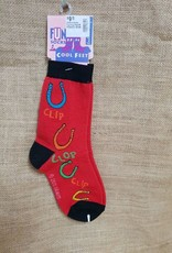 Love your Feet Child's Socks Clip Clop - Red/Blk