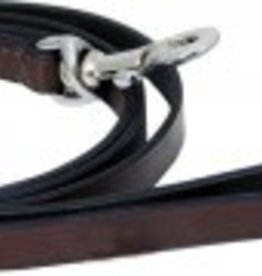 """Dog Lead Brown 3/8"""" Leather Lead 72"""""""