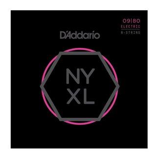 D'Addario D'Addario NYXL0980 8-string electric guitar set - 09/80