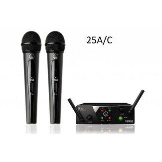 AKG AKG WMS 40 Mini 2 Système Sans-Fil Double Émetteurs Main - Fréquences US25A / US25C