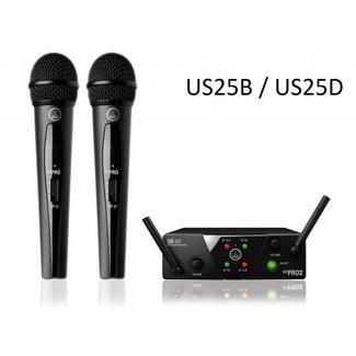AKG AKG WMS 40 Mini 2 Système Sans-Fil Double Émetteurs Main - Fréquences US25B / US25D